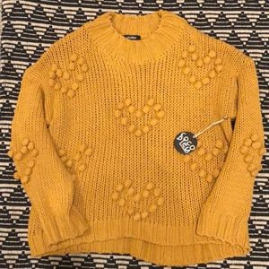 Cocobleu Gold Mustard Yellow Sweater Hearts